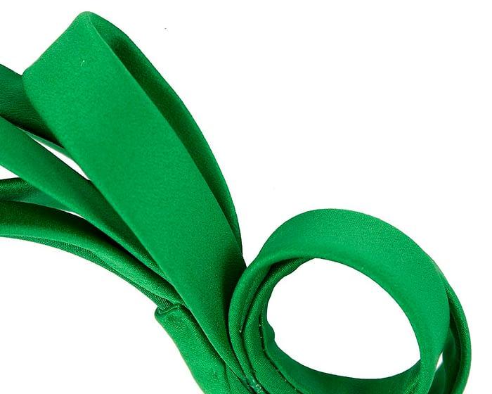 Fascinators Online - Green bow racing fascinator by Max Alexander 3