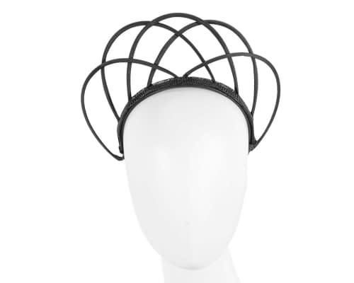Fascinators Online - Black crown racing fascinator by Max Alexander 24