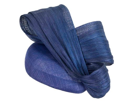 Fascinators Online - Royal Blue pillbox fascinator with large bow by Fillies Collection 2