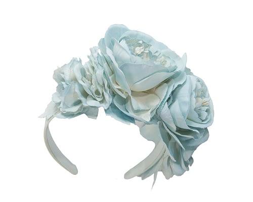Fascinators Online - Light blue flower headband fascinator by Max Alexander 2