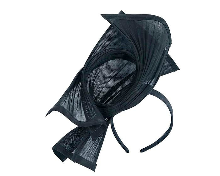 Fascinators Online - Twisted navy jinsin racing fascinator by Fillies Collection 2