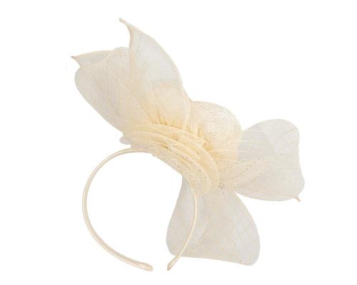 Fascinators Online - Large cream sinamay bow fascinator by Max Alexander 4