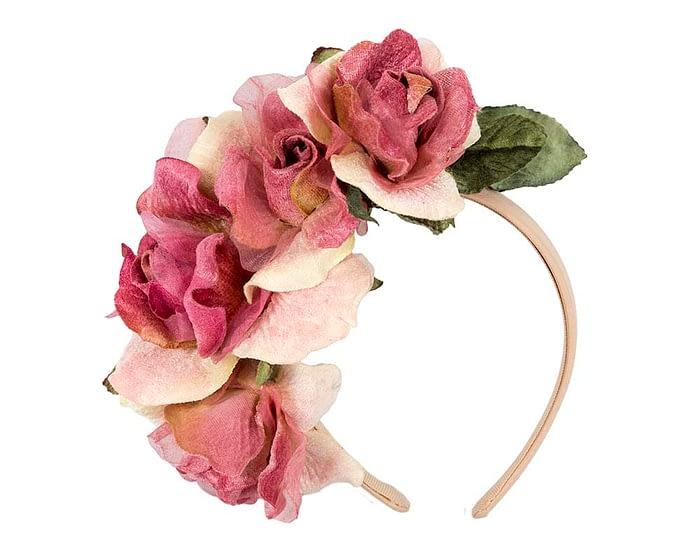 Fascinators Online - Multi-color flower headband by Max Alexander 2