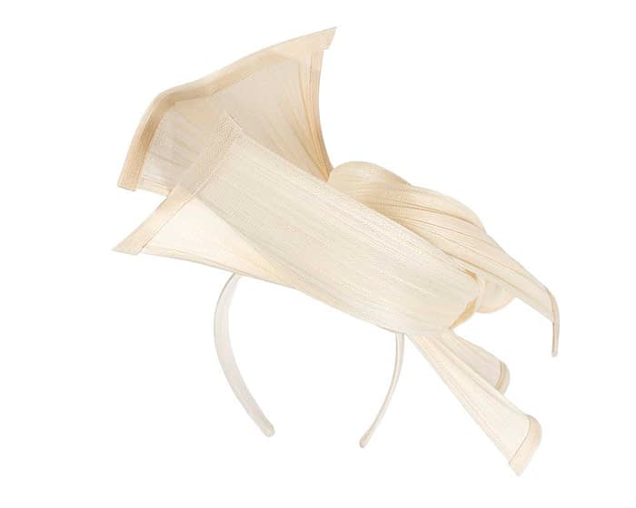 Fascinators Online - Twisted cream jinsin racing fascinator by Fillies Collection 5
