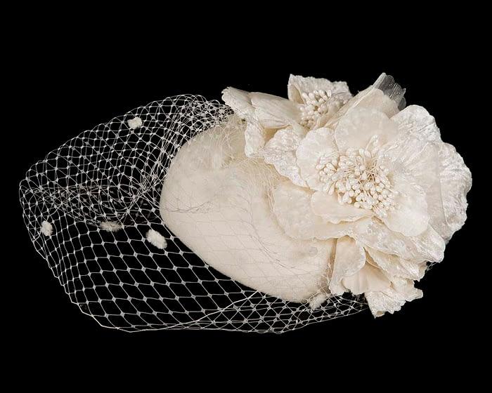 Fascinators Online - Cream Australian Made winter pillbox by Fillies Collection 2