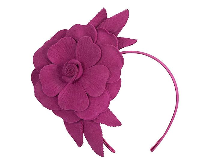 Fascinators Online - Fuchsia felt flower fascinator by Max Alexander 2