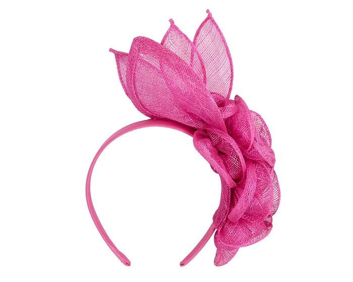 Fascinators Online - Large fuchsia flower headband fascinator by Max Alexander 4