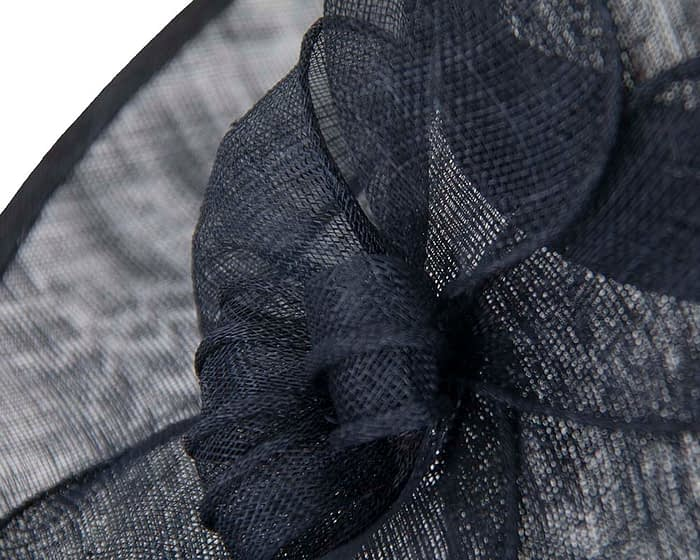 Fascinators Online - Large navy fashion hat by Max Alexander 4