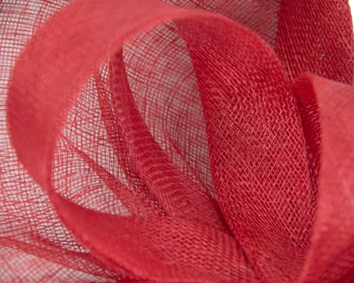 Fascinators Online - Large red sinamay fascinator by Max Alexander 3