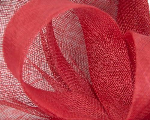 Fascinators Online - Large red sinamay fascinator by Max Alexander 3