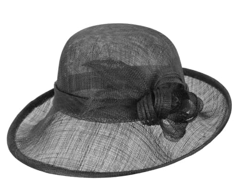 Fascinators Online - Black cloche spring fashion hat by Max Alexander 3