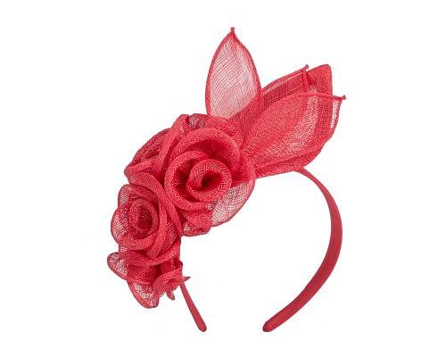 Fascinators Online - Large red flower headband fascinator by Max Alexander 2