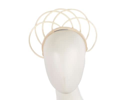 Fascinators Online - Ivory crown racing fascinator by Max Alexander 23