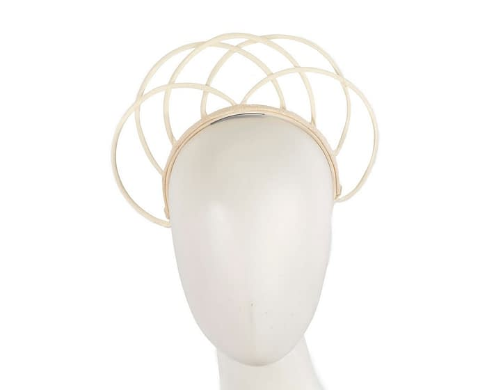 Fascinators Online - Ivory crown racing fascinator by Max Alexander 1