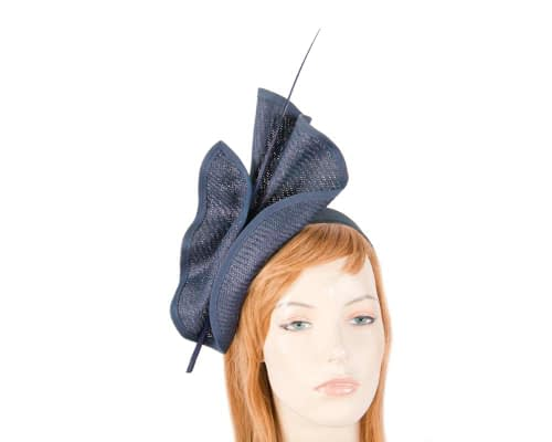 Fascinators Online - Modern Navy racing fascinator by Max Alexander 5