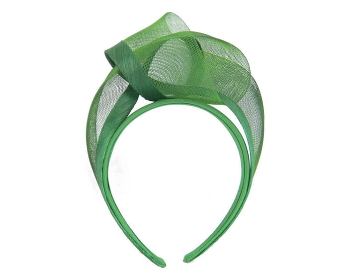 Fascinators Online - Green turban headband by Fillies Collection 2