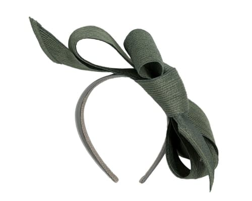 Fascinators Online - Large olive bow fascinator by Max Alexander 4