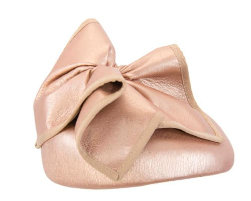 Fascinators Online - Rose gold leather pillbox fascinator by Max Alexander 4