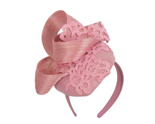 Fascinators Online - Pink pillbox fascinator with lace by Fillies Collection 2