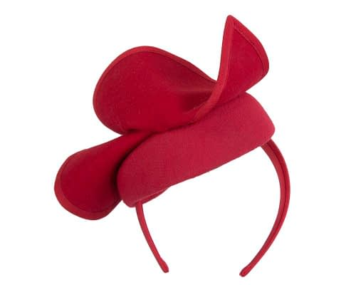 Fascinators Online - Red felt pillbox fascinator by Fillies Collection 6