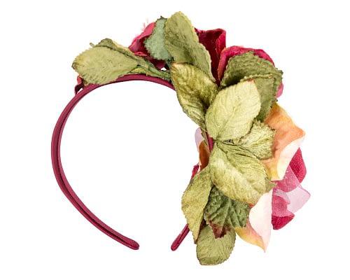 Fascinators Online - Multi-color lilac flower headband by Max Alexander 4