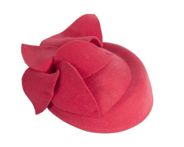 Red felt pillbox J336R