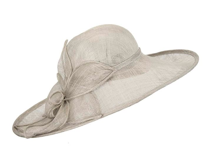 Fascinators Online - Large silver fashion hat by Max Alexander 3
