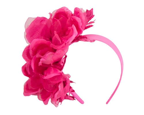 Fascinators Online - Fuchsia Silk Flower Fascinator by Fillies Collection 2