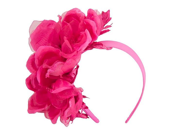 Fascinators Online - Fuchsia Silk Flower Fascinator by Fillies Collection 2