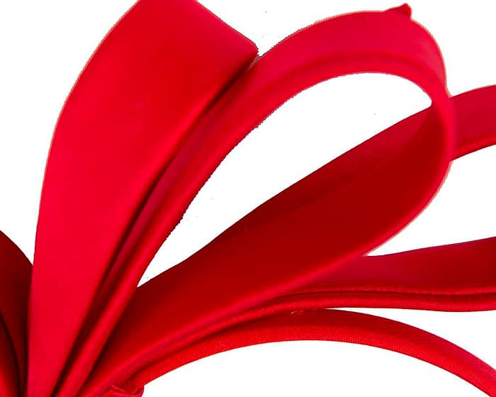 Fascinators Online - Red bow racing fascinator by Max Alexander 3