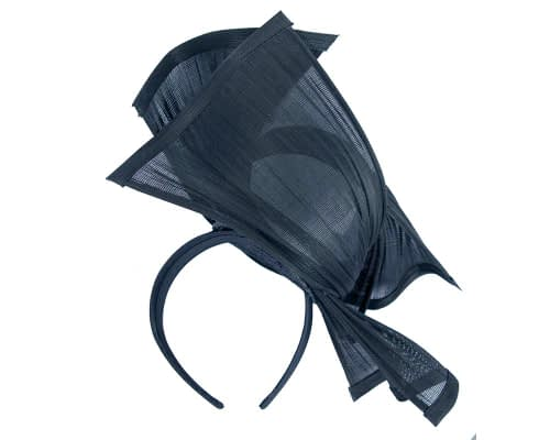Fascinators Online - Twisted navy jinsin racing fascinator by Fillies Collection 4