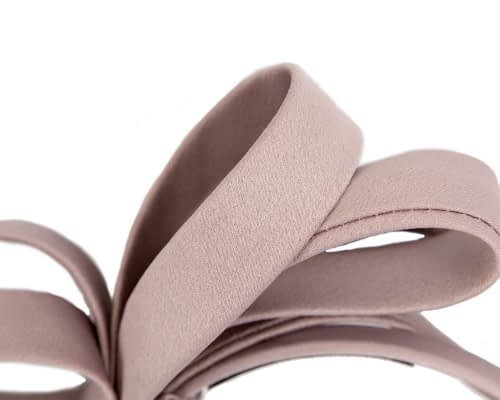 Fascinators Online - Taupe bow racing fascinator by Max Alexander 3