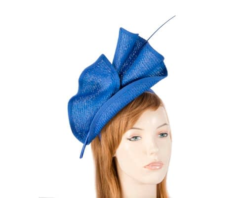 Fascinators Online - Modern Royal Blue racing fascinator by Max Alexander 1
