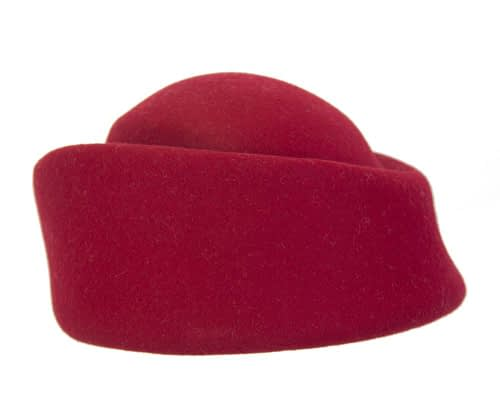 Fascinators Online - Designers red felt hat 6
