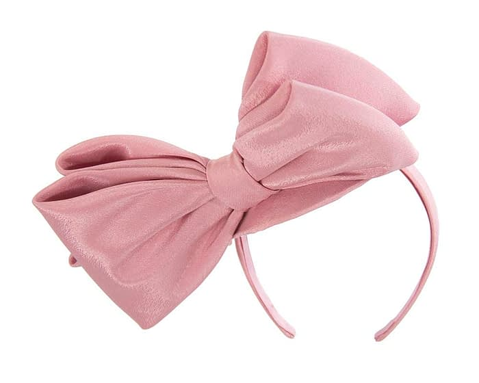Fascinators Online - Large dusty pink bow fascinator by Max Alexander 4