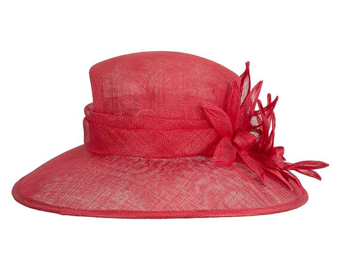 Fascinators Online - Large traditional red racing hat by Max Alexander 6