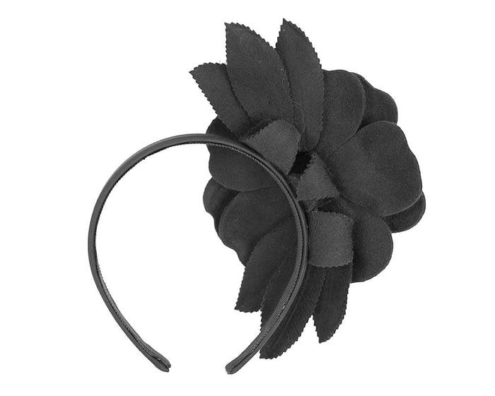 Fascinators Online - Black felt flower fascinator by Max Alexander 4