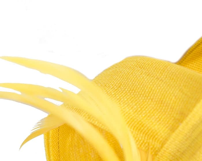Fascinators Online - Yellow loops headband fascinator by Fillies Collection 3