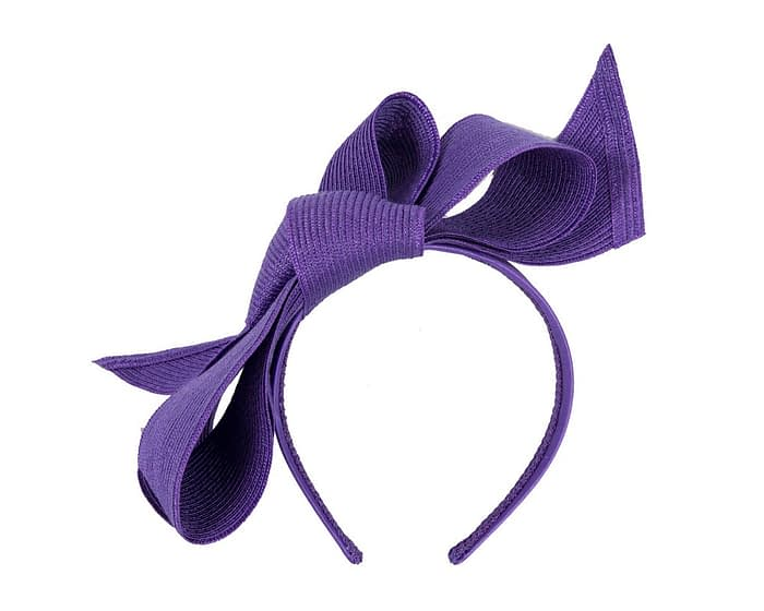 Fascinators Online - Large purple bow fascinator by Max Alexander 2