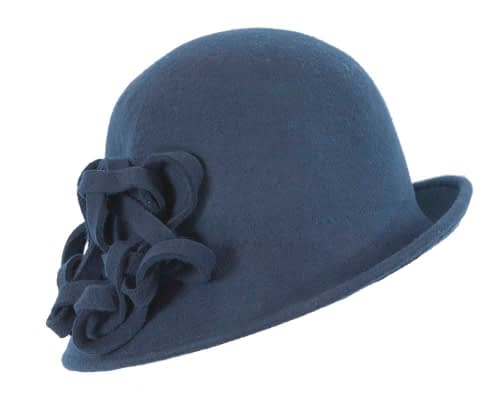 Fascinators Online - Navy felt cloche by Max Alexander 2