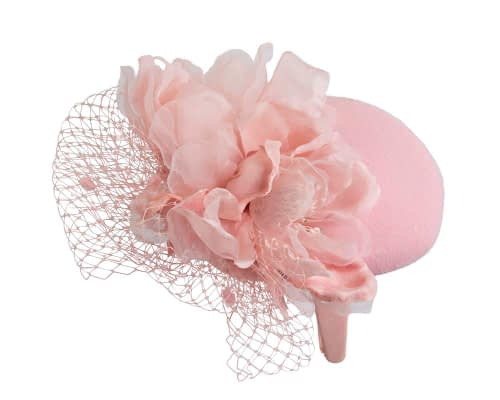 Fascinators Online - Pink pillbox fascinator with flower by Fillies Collection 6