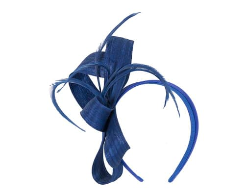 Fascinators Online - Royal blue loops headband fascinator by Fillies Collection 2