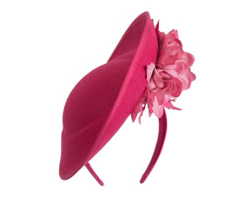 Fascinators Online - Large fuchsia plate with flowers by Fillies Collection 3