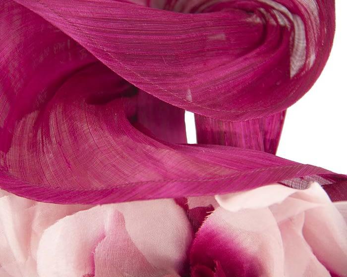 Fascinators Online - Tall wine silk abaca racing fascinator 3