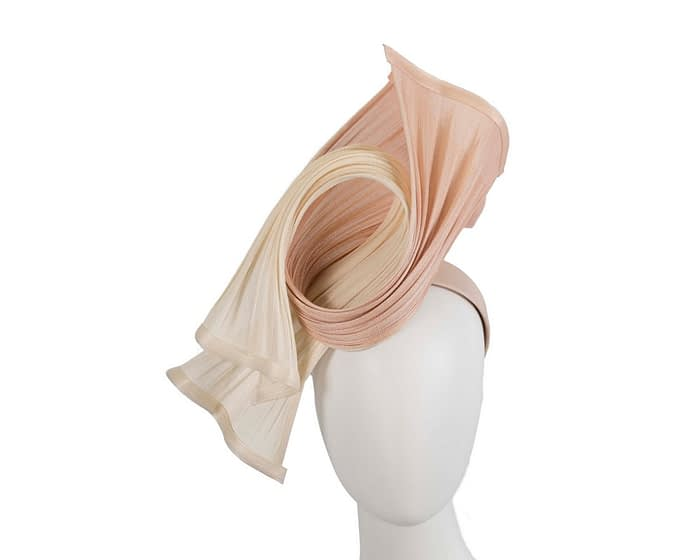 Fascinators Online - Twisted cream & nude jinsin racing fascinator by Fillies Collection 1