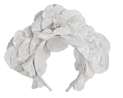 Fascinators Online - Cream flower halo 2