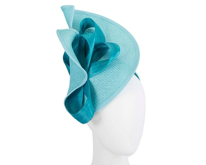 Fascinators Online - Turquoise fascinator with bow by Fillies Collection 1