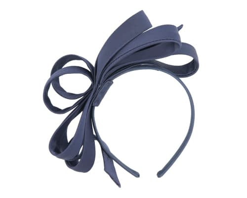 Fascinators Online - Navy bow racing fascinator by Max Alexander 2