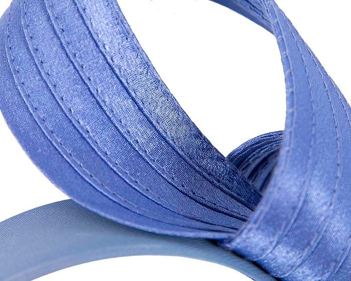 Fascinators Online - Twisted blue racing fascinator by Max Alexander 3