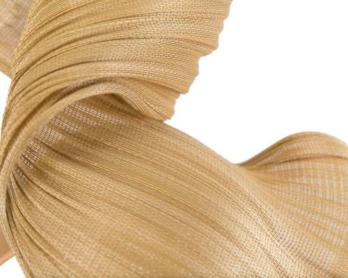Fascinators Online - Gold twisted jinsin fascinator by Fillies Collection 4